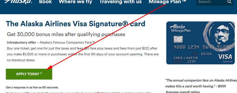 alaska airlines credit card offer