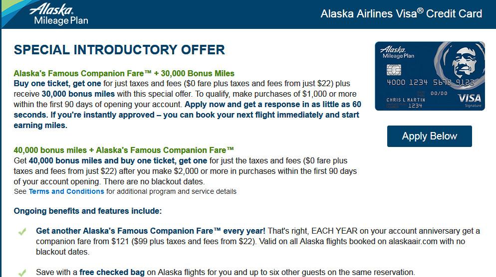 alaska airlines credit card annual fee