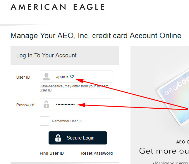 american eagle login