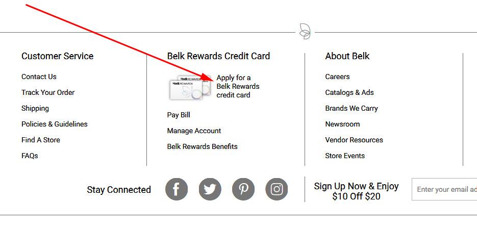 belk credit card sign in