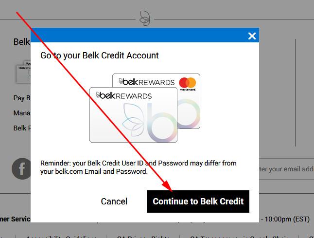login to belk rewards credit card