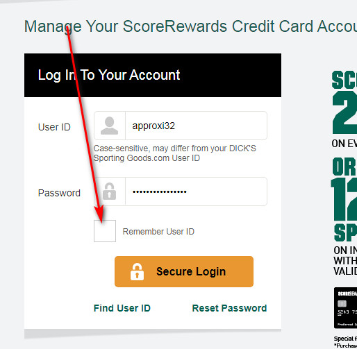 Dicks Sporting Goods credit card payment