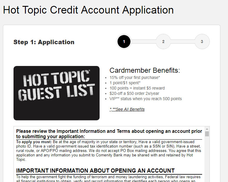 hot topic credit card declined