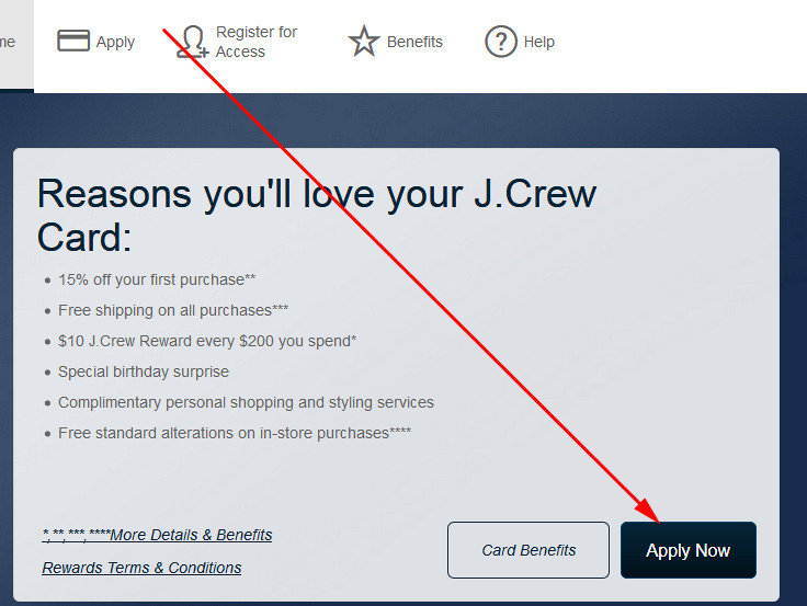 pay j crew credit card