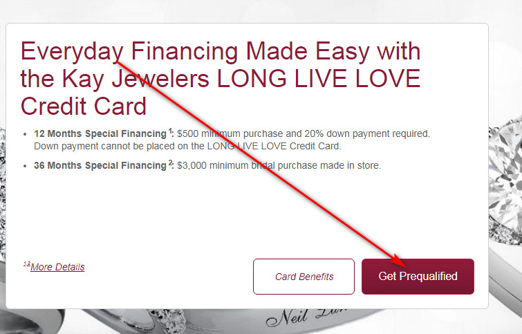 Kay Jewelers store card