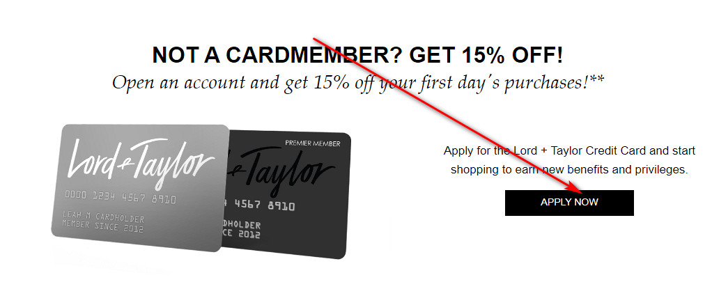 Apply for Lord and Taylor Credit Card