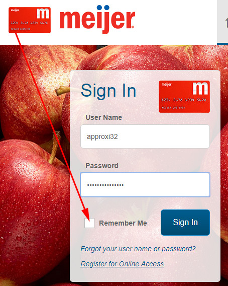 pay meijer credit card