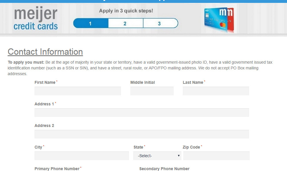 meijer credit card application