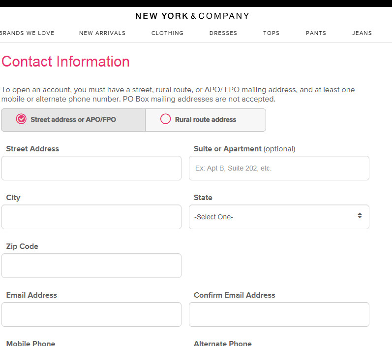 How to get New York & Company credit card