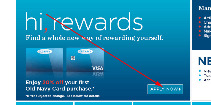 old navy credit card payments