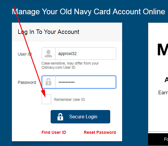 how to use old navy credit card