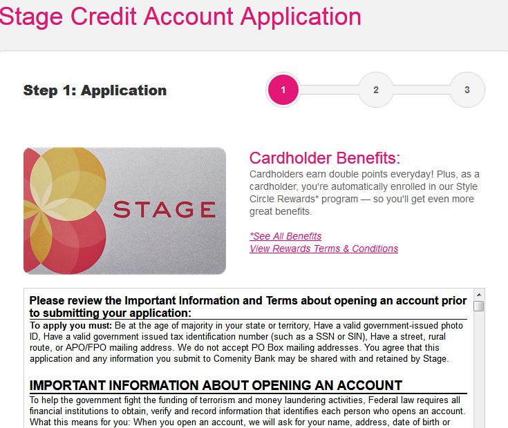 peebles credit card application