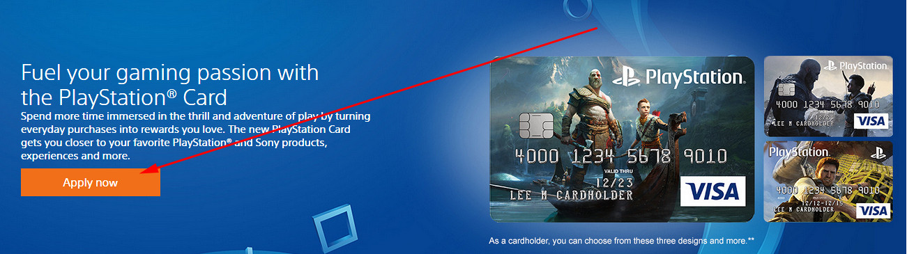 apply for playstation credit card