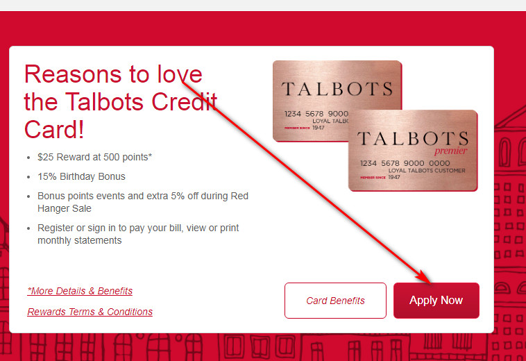 Apply for Talbots store card