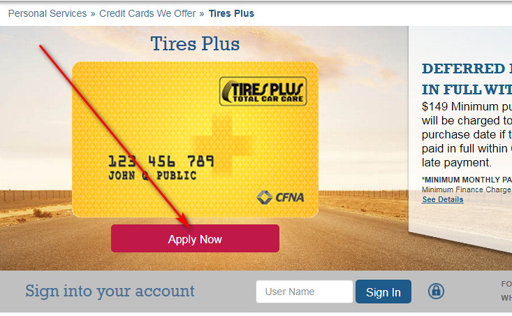 How to get Tires Plus credit card