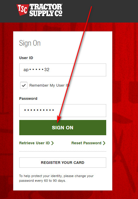 How to manage Tractor Supply store card online