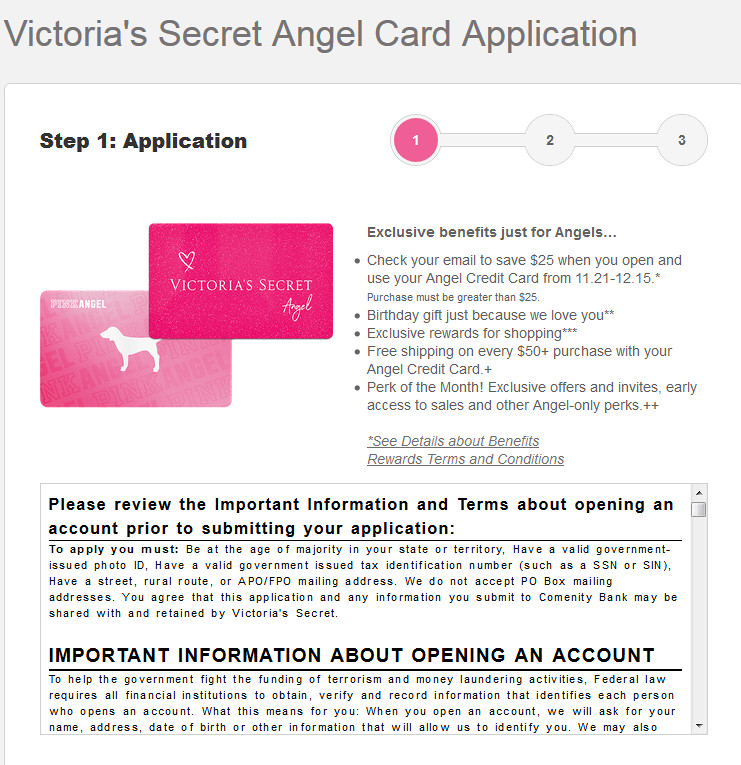 Victoria Secret credit card review