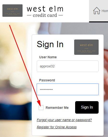 west elm credit card payment