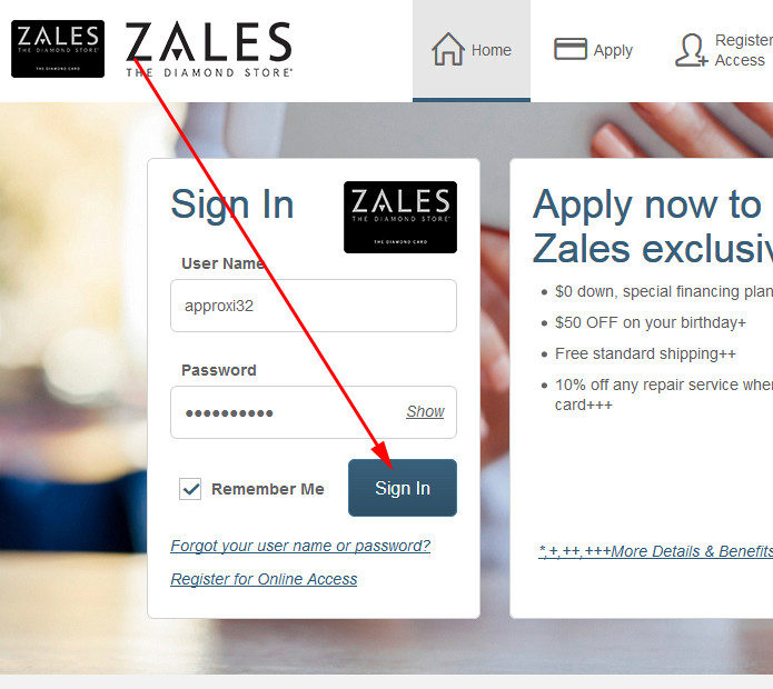 zales credit card with bad credit