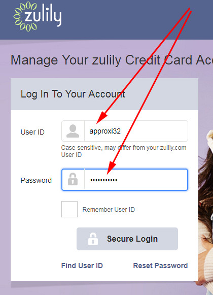 zulily credit card sign in
