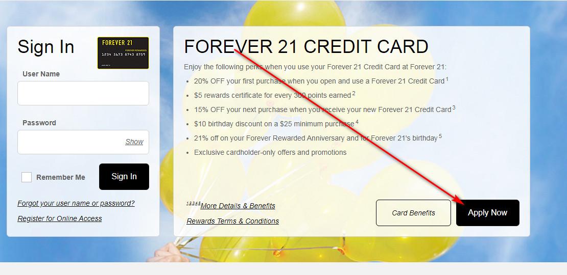 Forever 21 Visa Credit Card