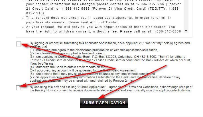 Apply for Forever 21 Visa Credit Card