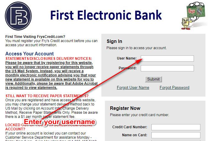Fry's Electronics Credit Card
