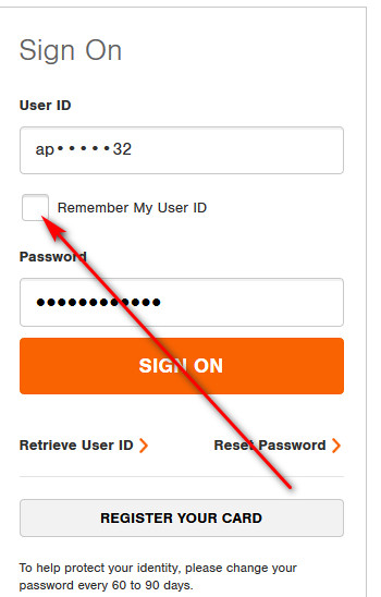Home Depot credit card required credit score